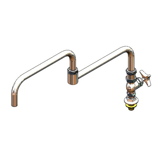 """T&S B-0298 Big Flo Kettle & Pot Sink Faucet w/ 24"""" Double Joint Nozzle"""