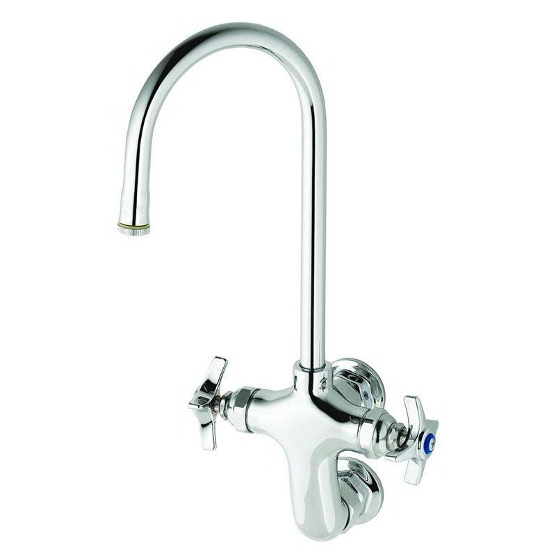 """T&S B-0315 Double Pantry Faucet, Rigid Gooseneck Nozzle, 3"""" Vertical Centers"""
