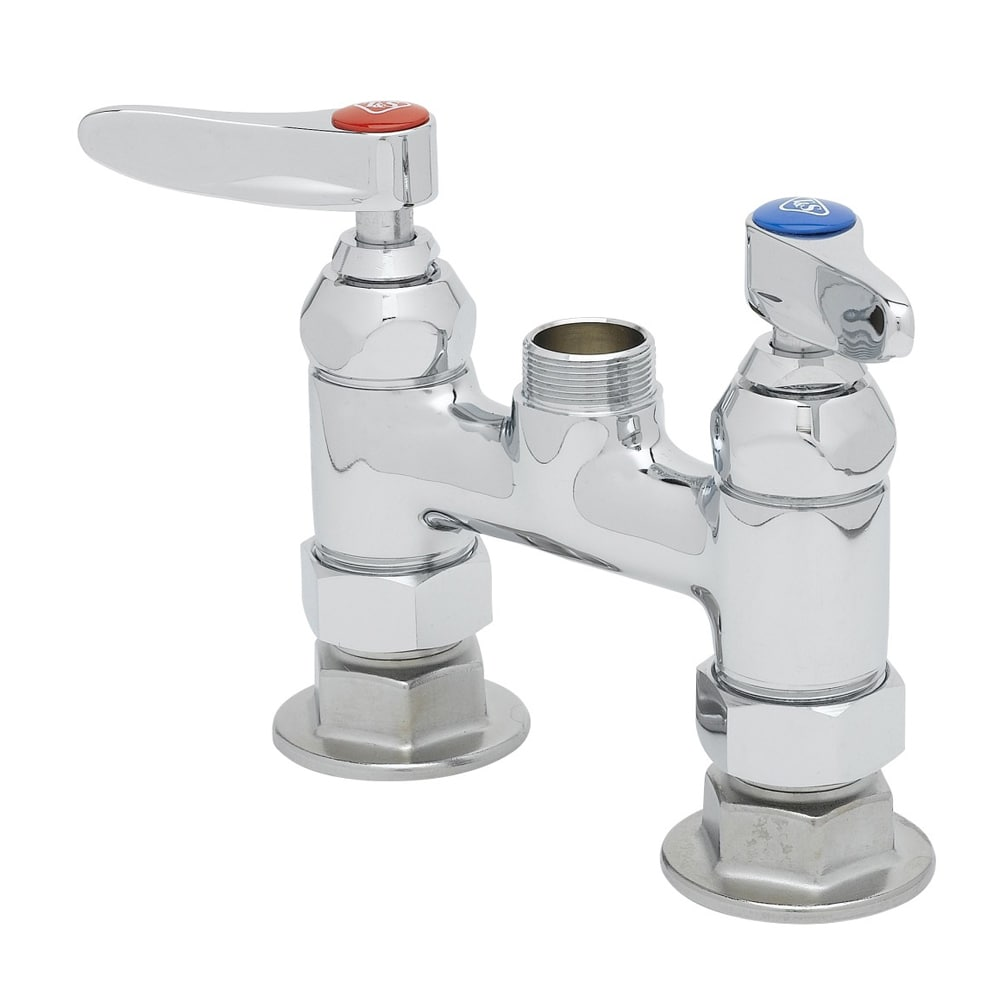 "T&S B-0326-LN Deck Mixing Faucet, Rigid Base Only, 4"" Centers"