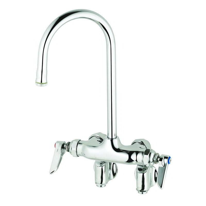 "T&S B-0343 Faucet, Splash Mount, Integral Stops, 10-1/4""H"