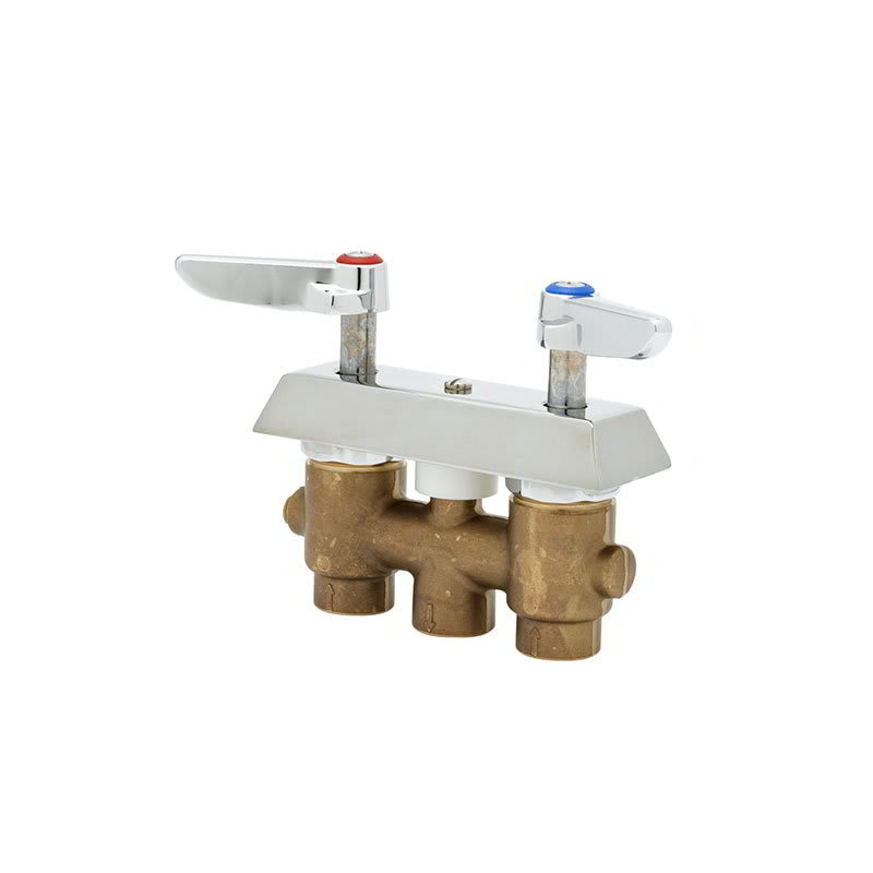 """T&S B-0513 Concealed Mixing Faucet, Lever Handles, 3"""" Centers"""