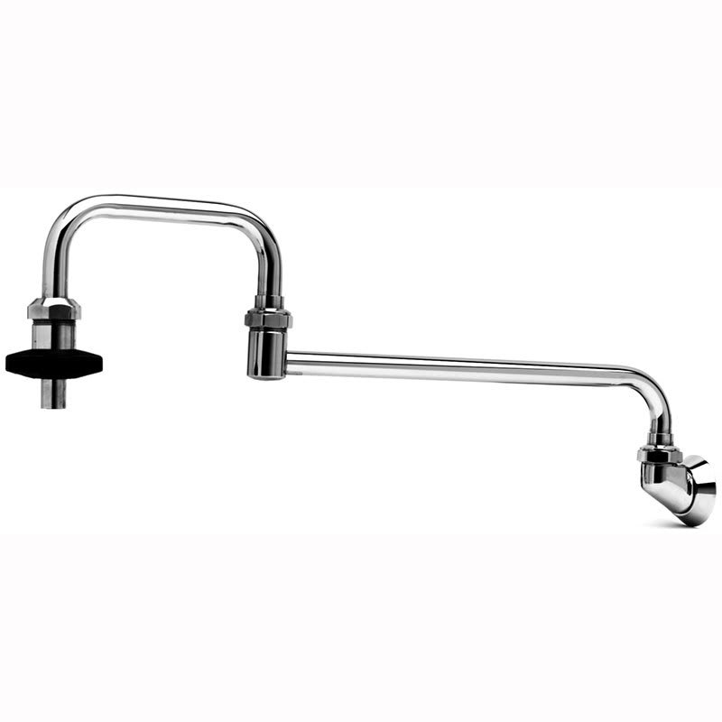 "T&S B-0580 Pot Filler Faucet, Splash-Mounted,  Double-Joint Nozzle, 18""L"