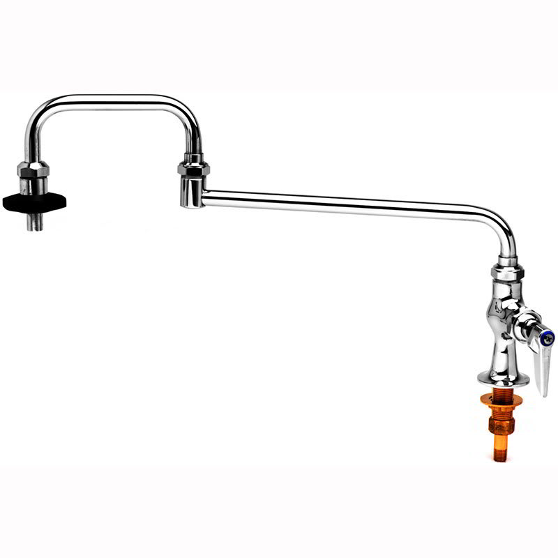 "T&S B-0590 Pot Filler Faucet, 18""Long, Double Joint, 1/4"" Union Tailpiece"