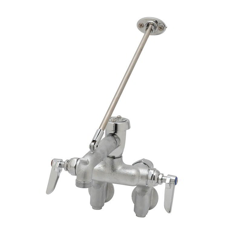 T&S B-0667-RGHM Service Sink Faucet w/ Adjustable Centers & Brace