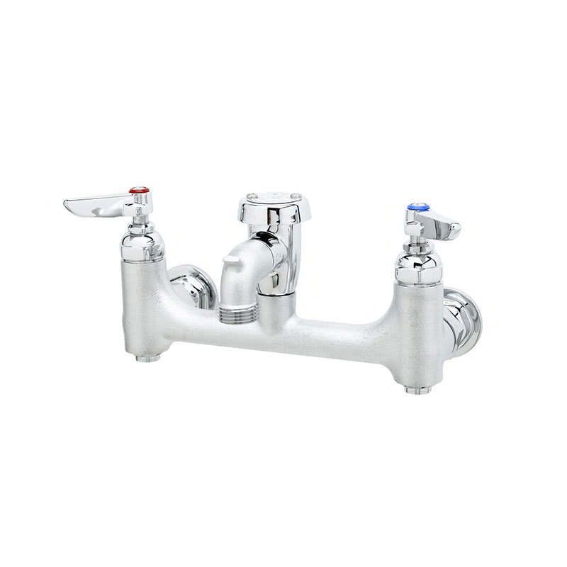 T&S B-0674-BSTR Service Sink Faucet w/ Built In Stops & Vacuum Breaker, Rough
