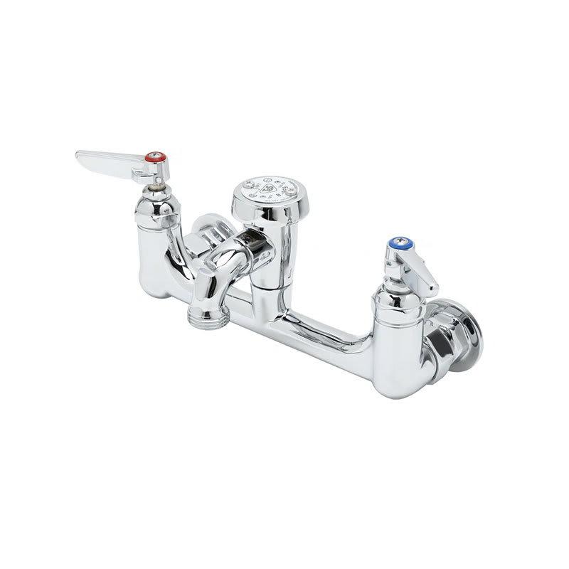 T&S B-0674-POL Service Sink Faucet w/ Vacuum Breaker & Pail Hook, Polished