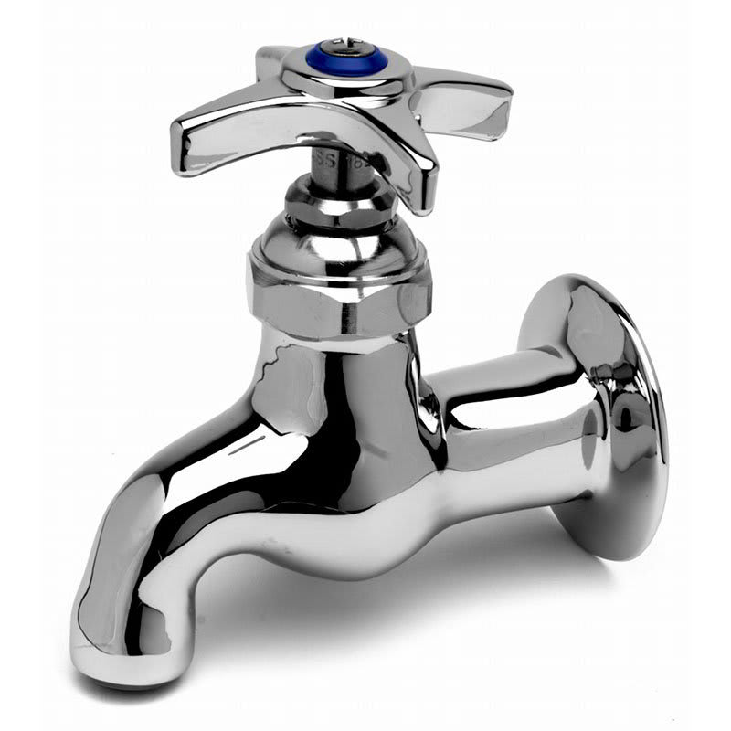 "T&S B-0700 Single Sink Faucet, Heavy Duty, 4""Wall to Spout Center"