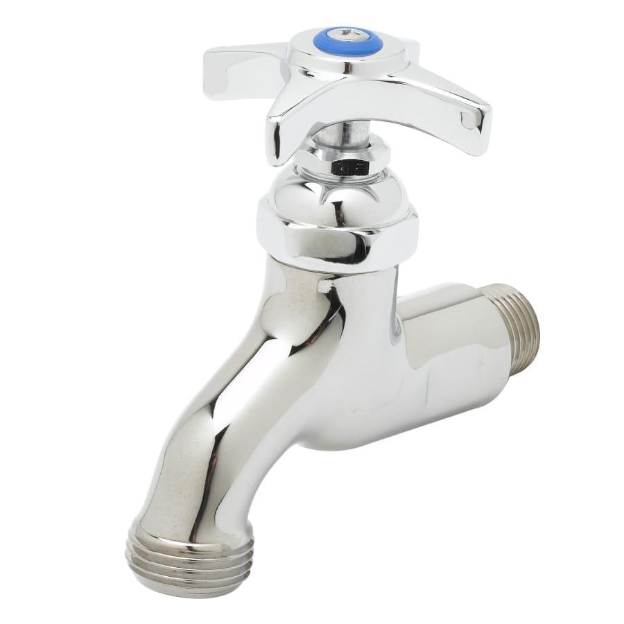 """T&S B-0704 Heavy Duty Single Sink Faucet w/ 3/4"""" Hose Outlet, Male Inlet"""