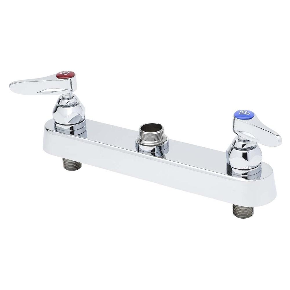"T&S B-1120-LN Faucet Workboard, 1 1/2"" Shanks,1/2"" IPS, 8"" Centers, Deck Mount"