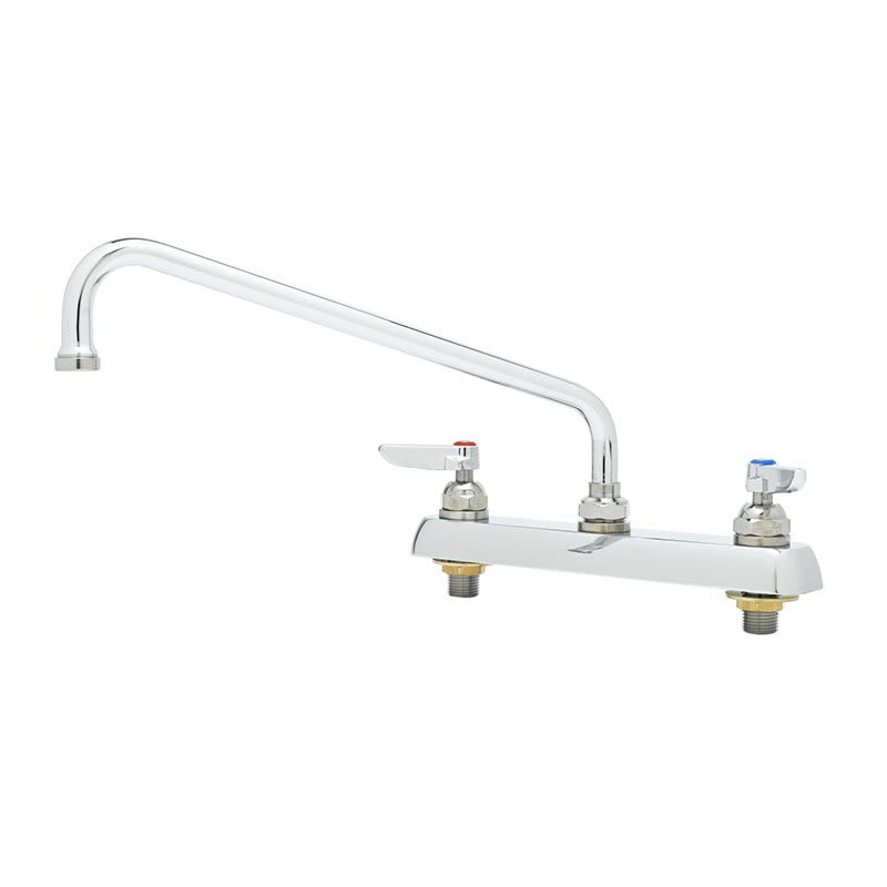 "T&S B-1123 Faucet, 12"" Swing Nozzle, Deck Mounted"