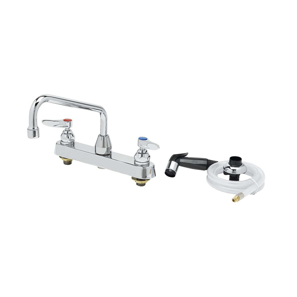 "T&S B-1172 Lavatory Faucet w/ Hose & Spray, On 8"" Centers"