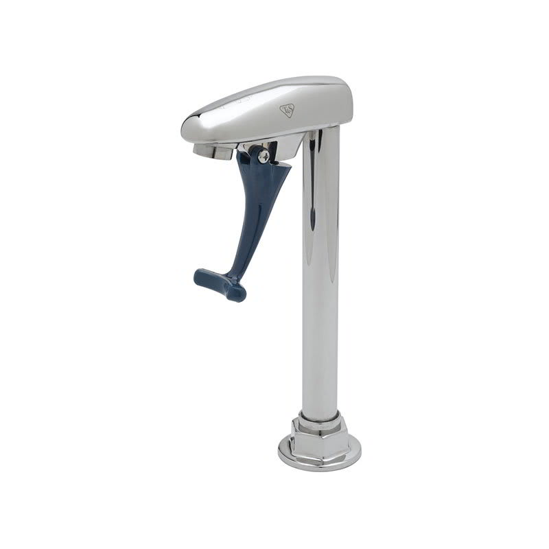 "T&S B-1222 Double Pedestal Push Back Glass Filler w/ 1/2"" IPS Female Inlet"