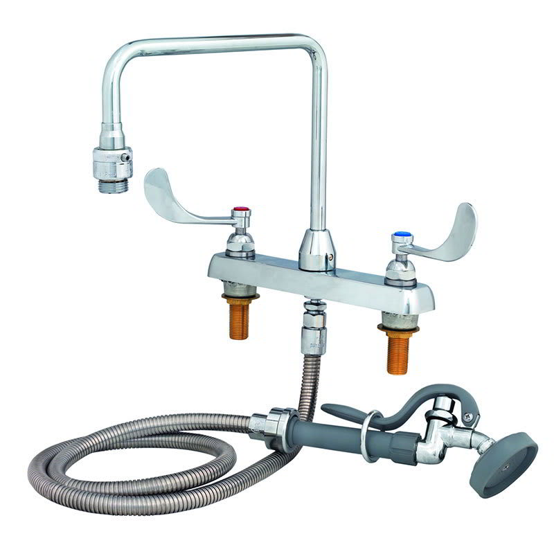 T&S B-2346 Workboard Faucet, Vacuum Breaker & Gooseneck Faucet, ADA ...