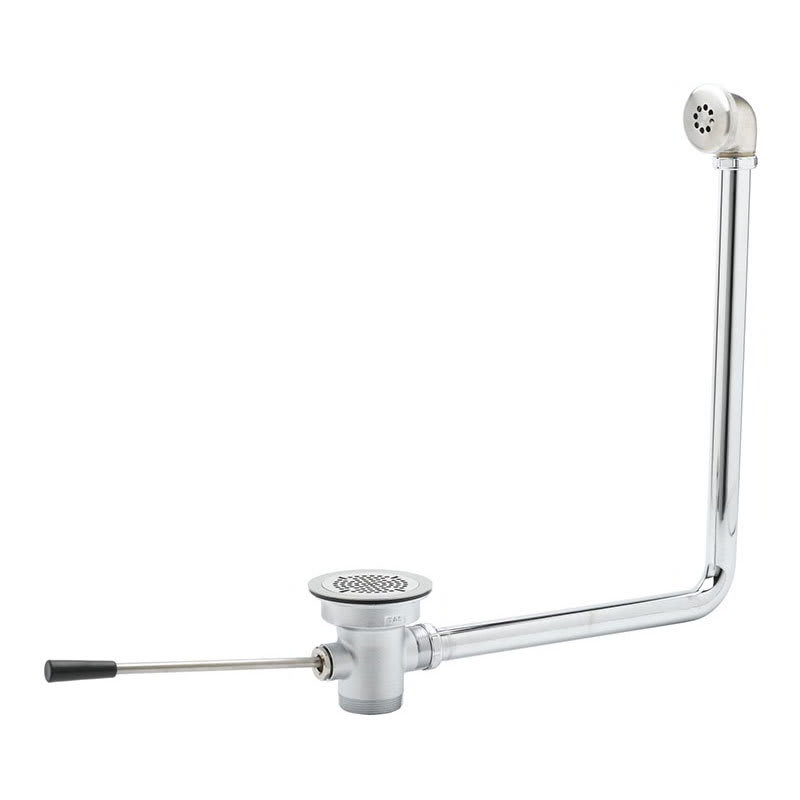"""T&S B-3970-01 Lever Waste Valve, 3-1/2"""" Sink Opening, 2""""Drain, 1-1/2"""" Adapter"""