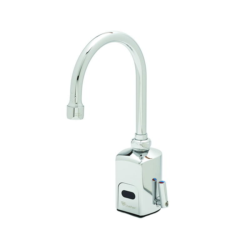 T&S EC-3130 Electronic Faucet, Deck Mount, Single Hole, Swivel/Rigid Gooseneck, 100-240v/1ph