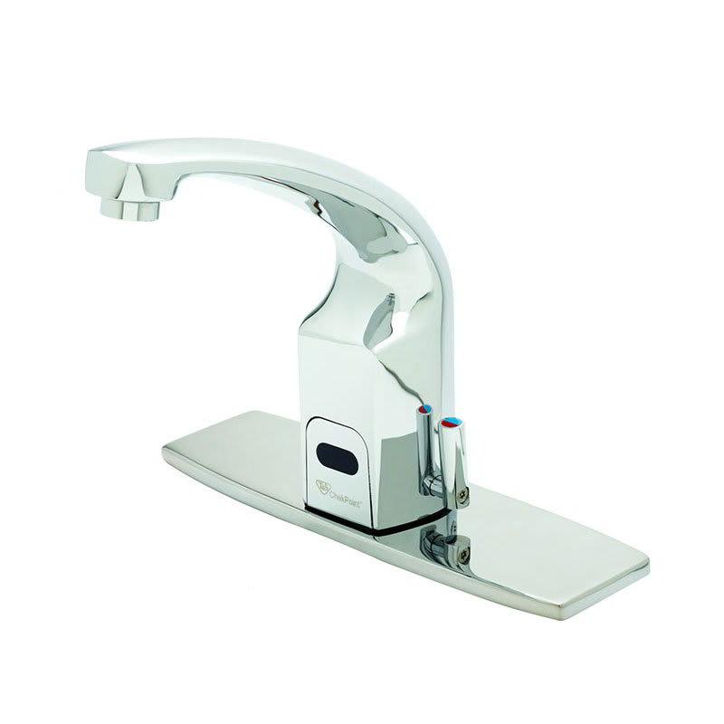 """T&S EC-3132-8DP Electronic Faucet, Deck Mount, 8"""" Deck Plate, Cast Spout, 100-240v/1ph"""