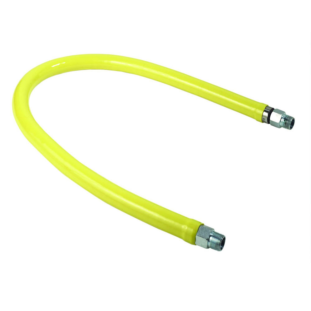 "T&S HG-2C-24 24"" Gas Connector Hose w/ 1/2"" Male/Male Couplings"