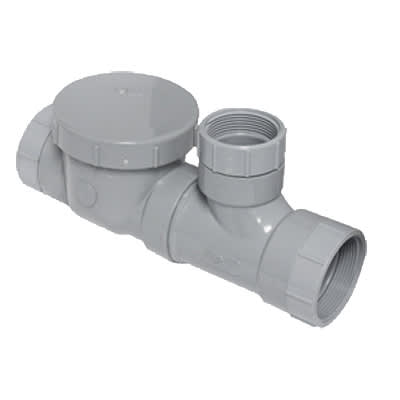 """Canplas 3934150AS Spigot Format Flow Control w/ Fittings, Cleanout & Air Intake, 50 GPM, 4"""""""