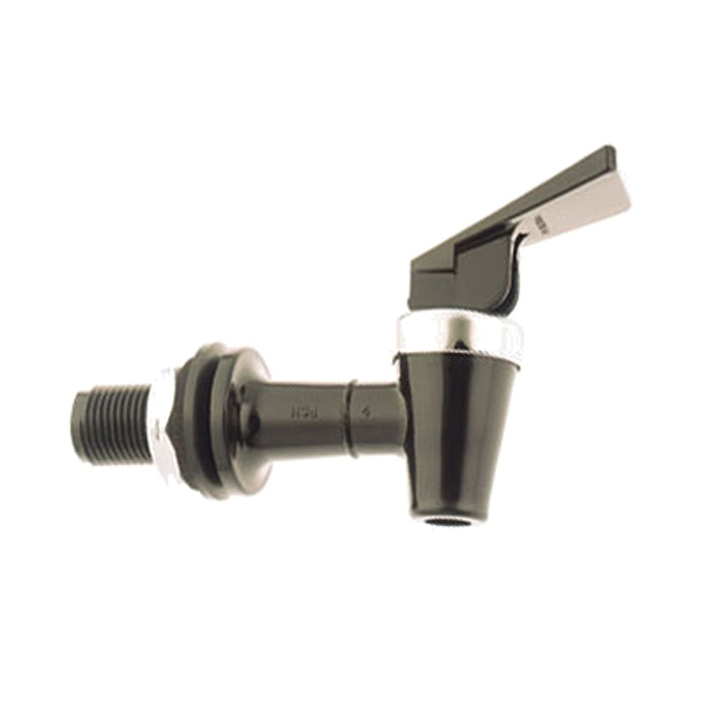 Tomlinson 1000361 Beverage Faucet, No Drip , Black Body, Chromed Brass Bonnet