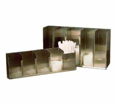 Tomlinson 1004054 Countertop Lid Dispenser w/ 3-Adjustable Dividers, 15.5-in
