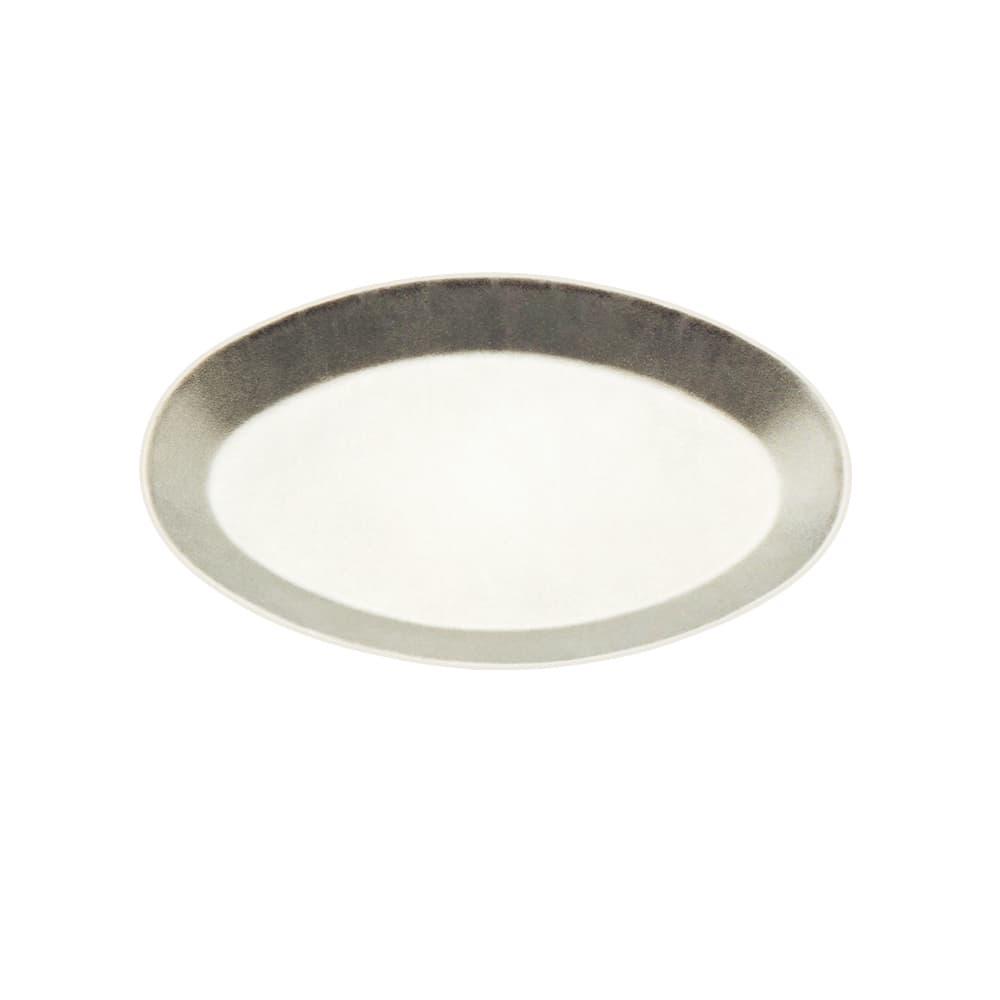 """Tomlinson 1006369 Oval Dinner Platter, 8 x 12"""", Frosty Finish"""