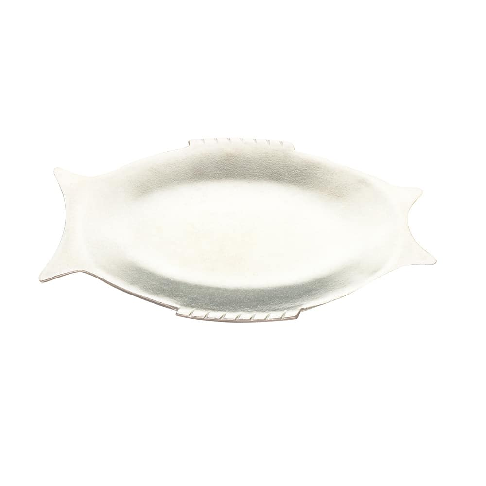 "Tomlinson 1006428 Fish Design Dinner Platter, 8 x 13"", Frosty Finish"