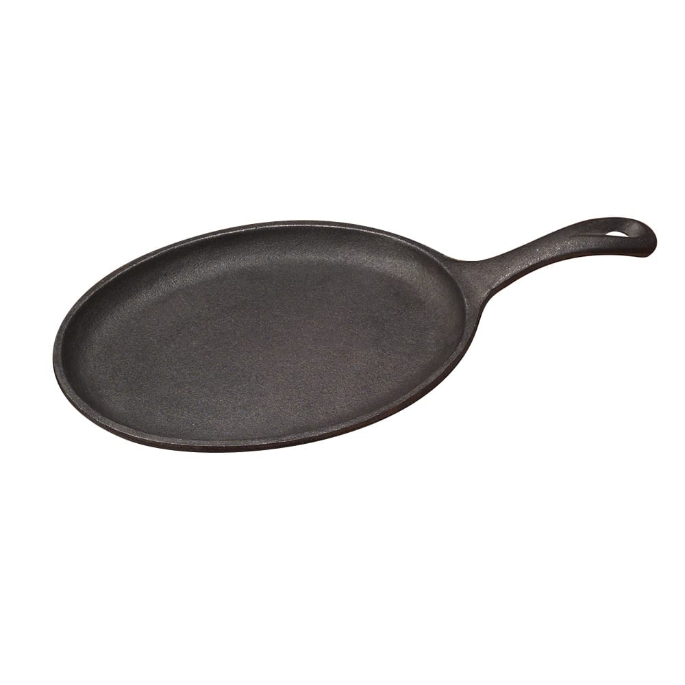 """Tomlinson 1025009 Oval Serving Griddle w/ Handle, Cast Iron, 10 x 7"""""""