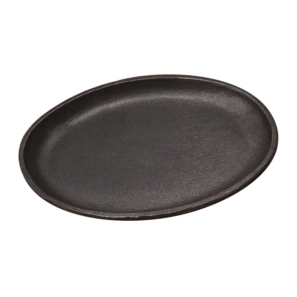 Tomlinson 1016264 Jumbo Oval Serving Griddle, Cast Iron, 13 x 10""