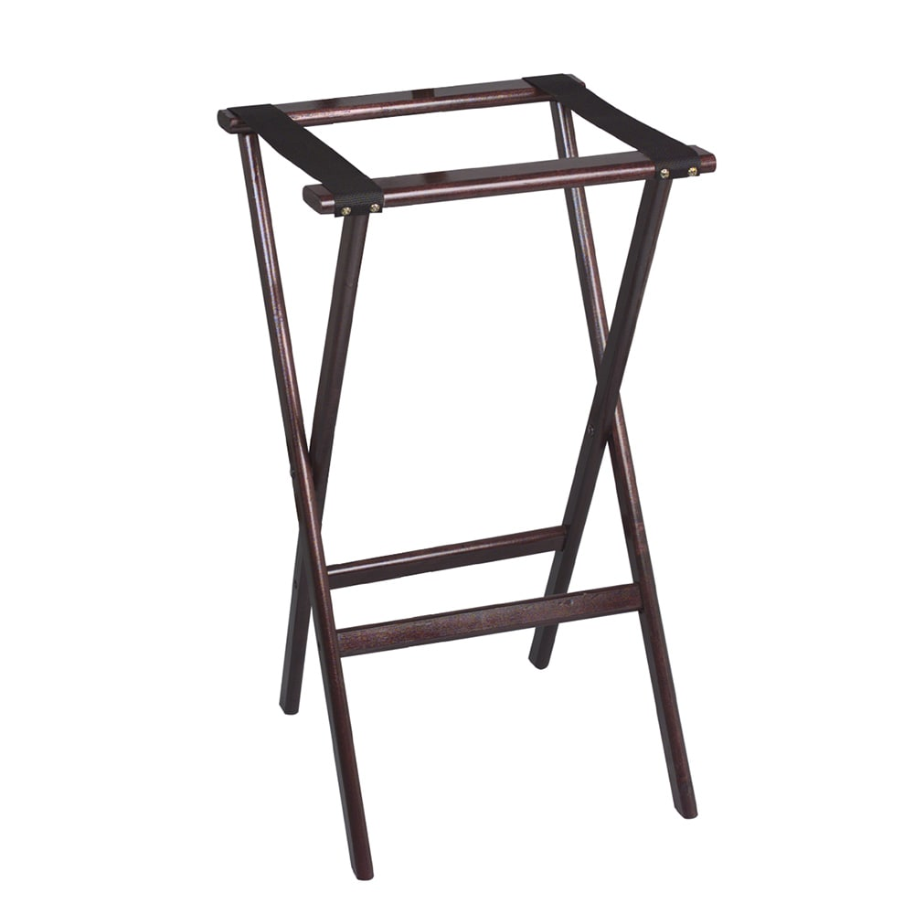 "Tomlinson 1016287 30"" Tray Stand, Molded Hardwood w/ Radius Edges & Corners, Red Mahogany Finish"