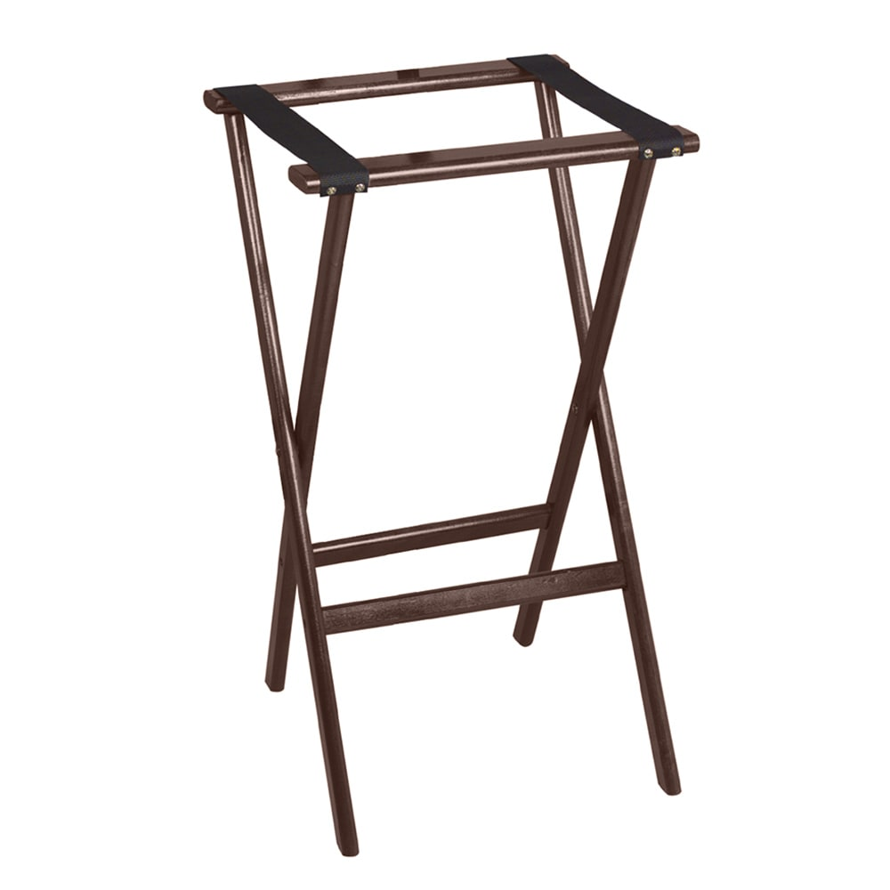 "Tomlinson 1016288 30"" Tray Stand, Molded Hardwood w/ Radius Edges & Corners, Walnut Finish"