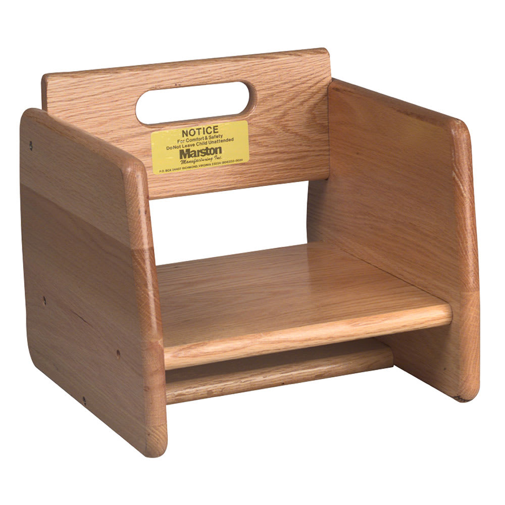 Tomlinson 1016296 Single-Height Booster Seat - Wood, Natural