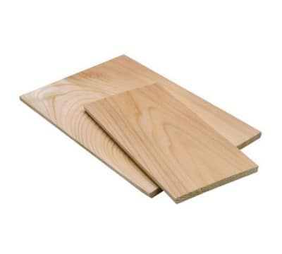 Tomlinson 1019255 Cedar Wood Plank - 1/4 x 4-1/2 x 6-1/2 in - For Cooking Over Open Flames