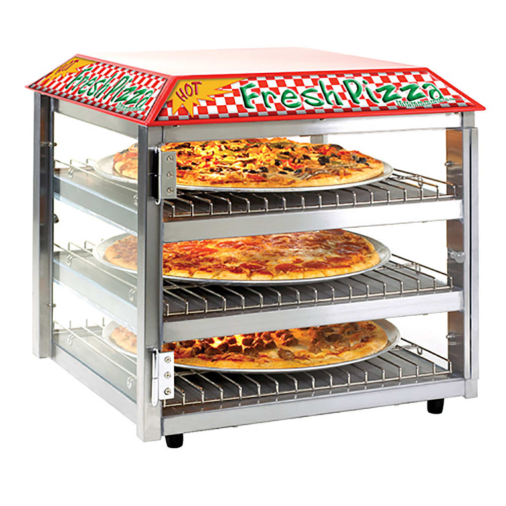 "Tomlinson 1023226 19"" Heated Pizza Merchandiser w/ 3 Levels, 120v"