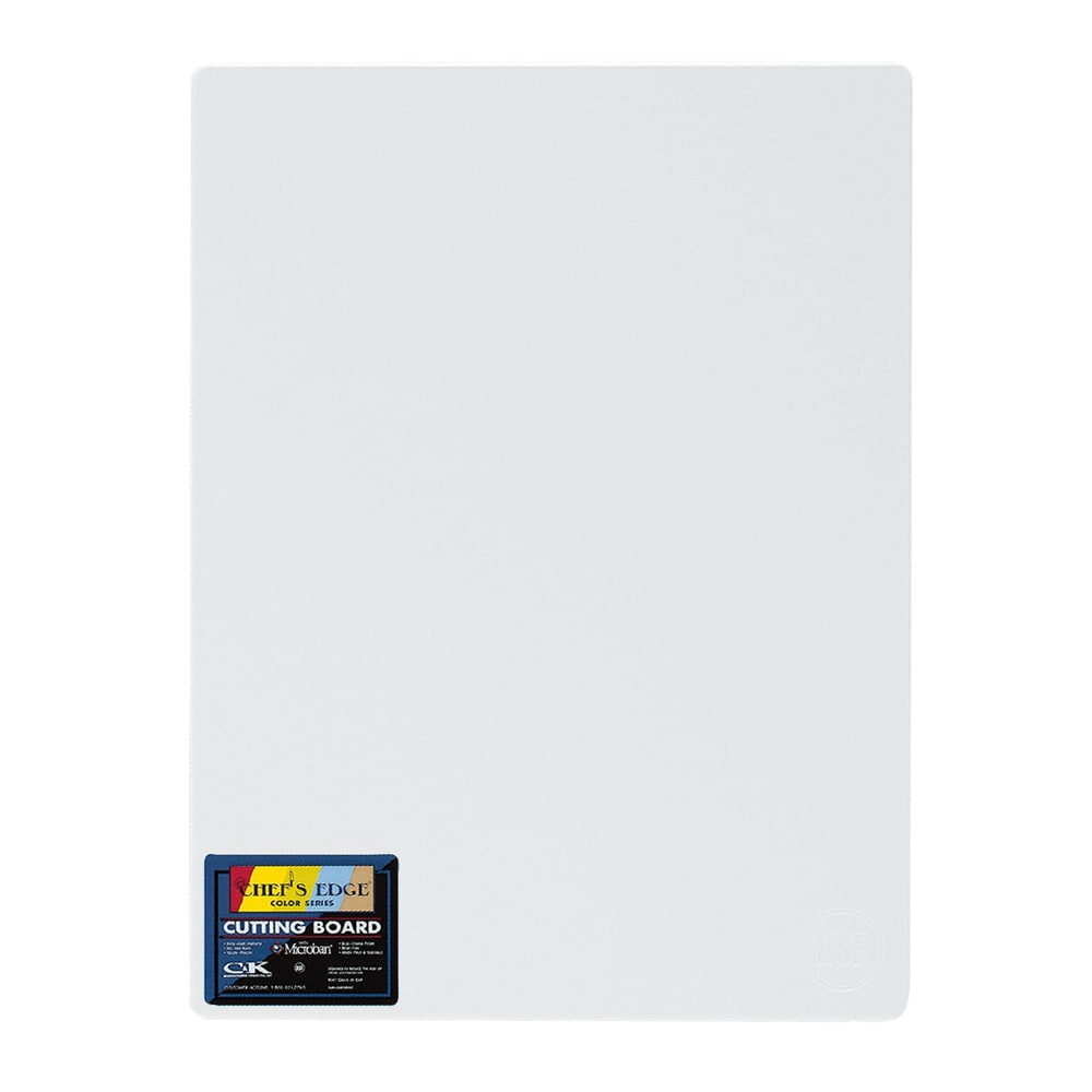 "Tomlinson 1032307 Cutting Board w/ Microban, 15 x 20"", NSF, White"
