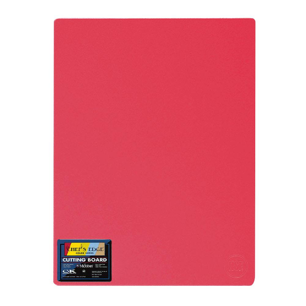 """Tomlinson 1032705 Cutting Board w/ Microban, 12 x 18"""", NSF, Red"""