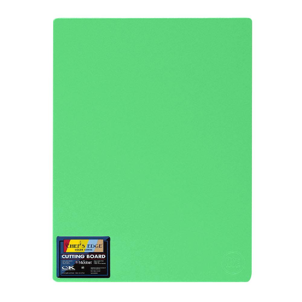 "Tomlinson 1032716 Cutting Board w/ Microban, 12 x 18"", NSF, Green"