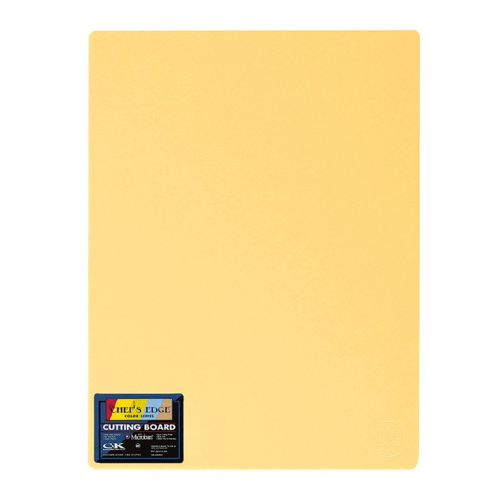 """Tomlinson 1032730 Cutting Board w/ Microban, 18 x 24"""", NSF, Yellow"""