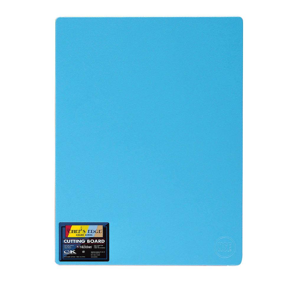 """Tomlinson 1032738 Cutting Board w/ Microban, 12 x 18"""", NSF, Blue"""