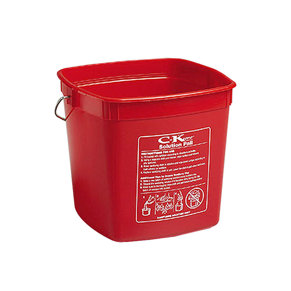Tomlinson 1034040 Solution Pail, 190 oz, Red