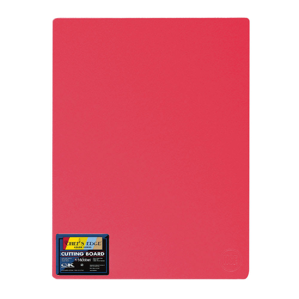 "Tomlinson 1034328 Colored Series Cutting Board, 18 x 24"", NSF, Red"