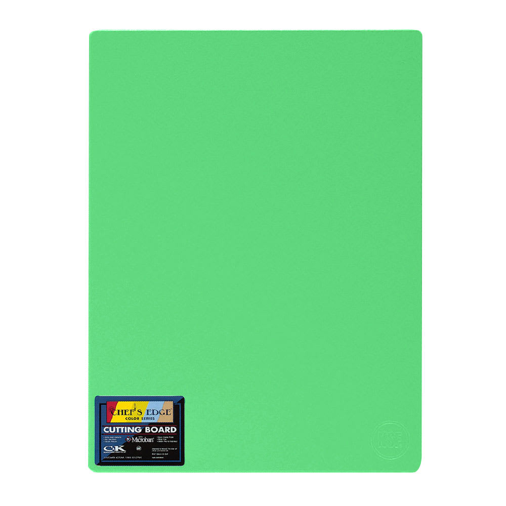"Tomlinson 1034341 Colored Series Cutting Board, 6 x 8"", NSF, Green"