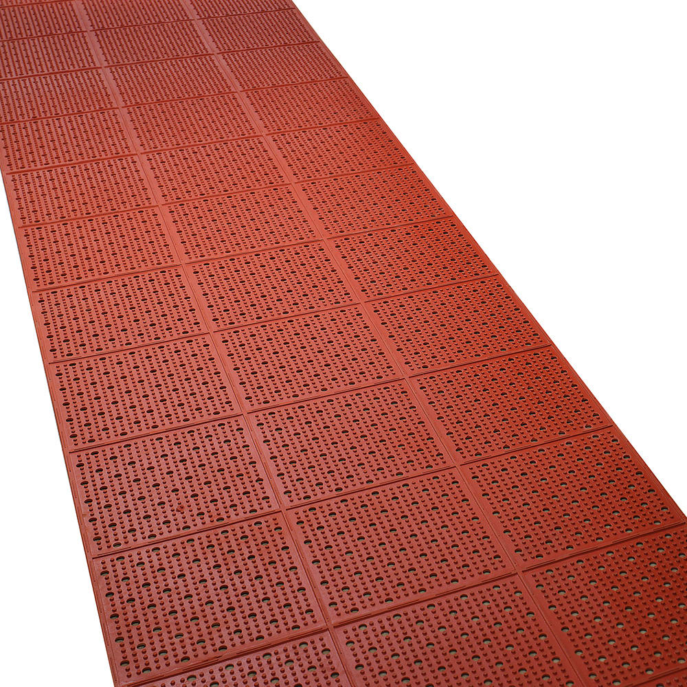 "Tomlinson 1035072 General Purpose Multi-Trac Roll Mat, 36 x 432"", Red"
