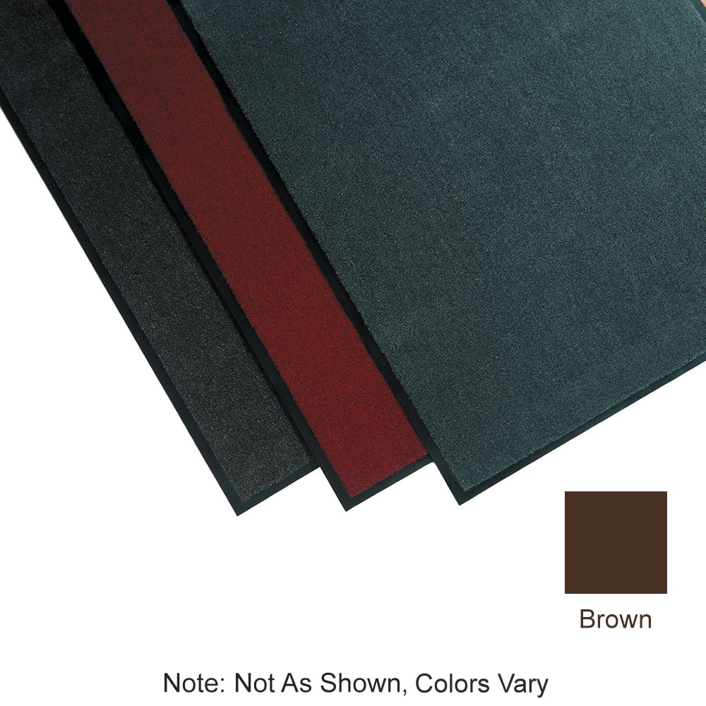 "Tomlinson 1035300 Olefin Carpet Mat w/ Vinyl Backing, 36 x 60"", Brown"