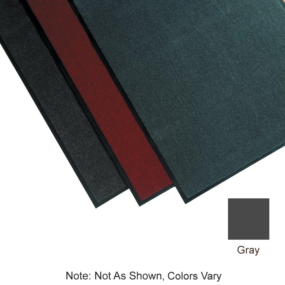 "Tomlinson 1035301 Olefin Carpet Mat w/ Vinyl Backing, 36 x 60"", Gray"