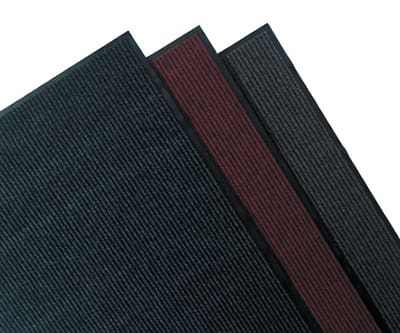 Tomlinson 1035401 Deep-Ribbed Scraper Mat w/ Vinyl Backing, 36 x 60-in, Gray