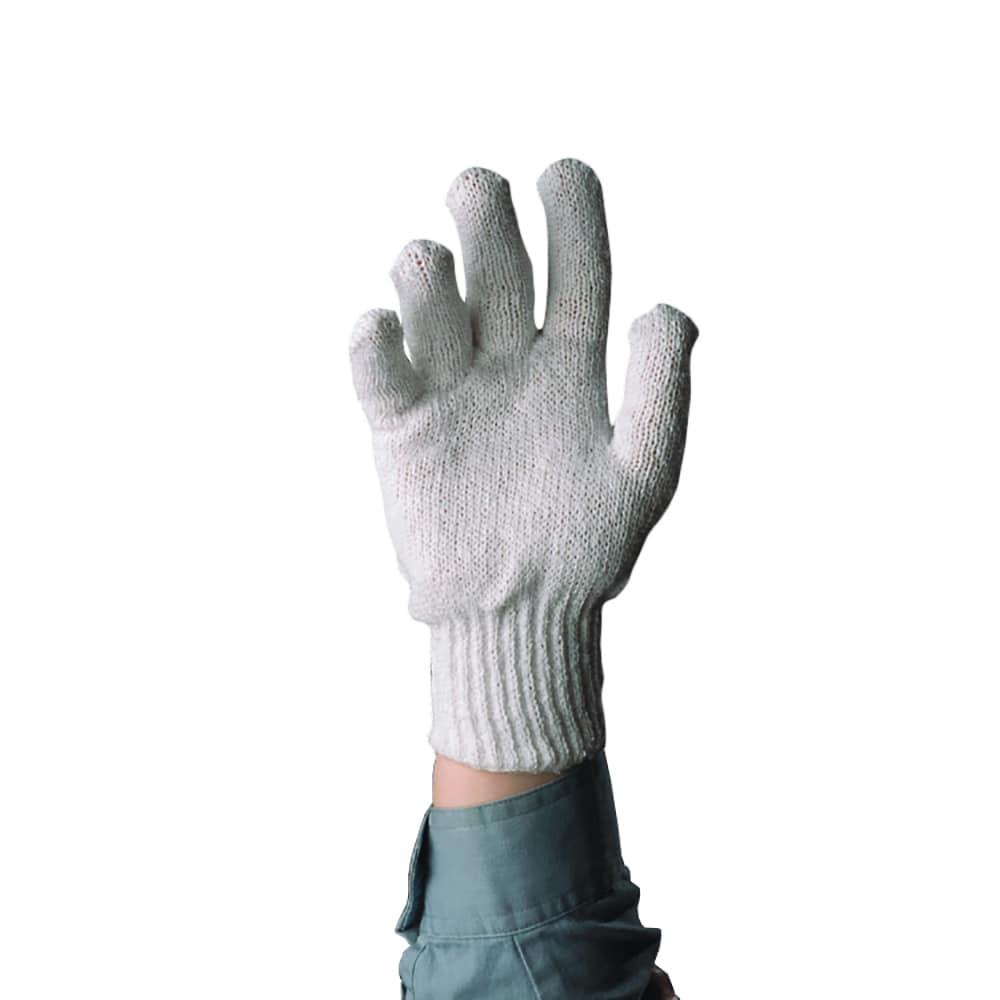 Tomlinson 1036212 Women Cotton Knit Gloves, Pre-Shrunk, White