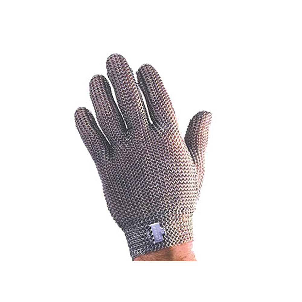 Tomlinson 1036468 Full Hand Metal Mesh Glove, 304L Stainless, Steel Closure, Large