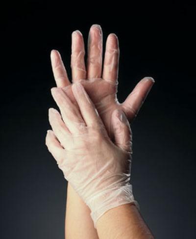 Tomlinson 1036624 Powder Free Disposable Food Service Glove, Vinyl, X-Large