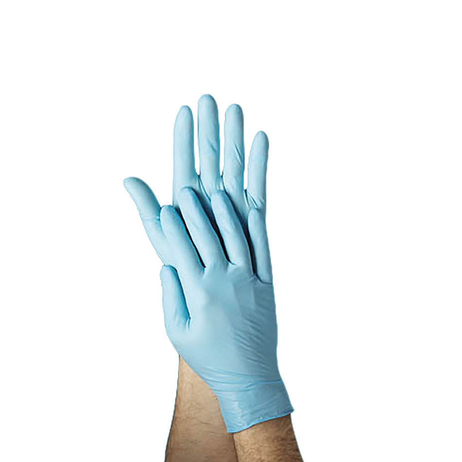 Tomlinson 1036879 4-ml Powder Free Disposable Food Service Glove, Blue, Medium