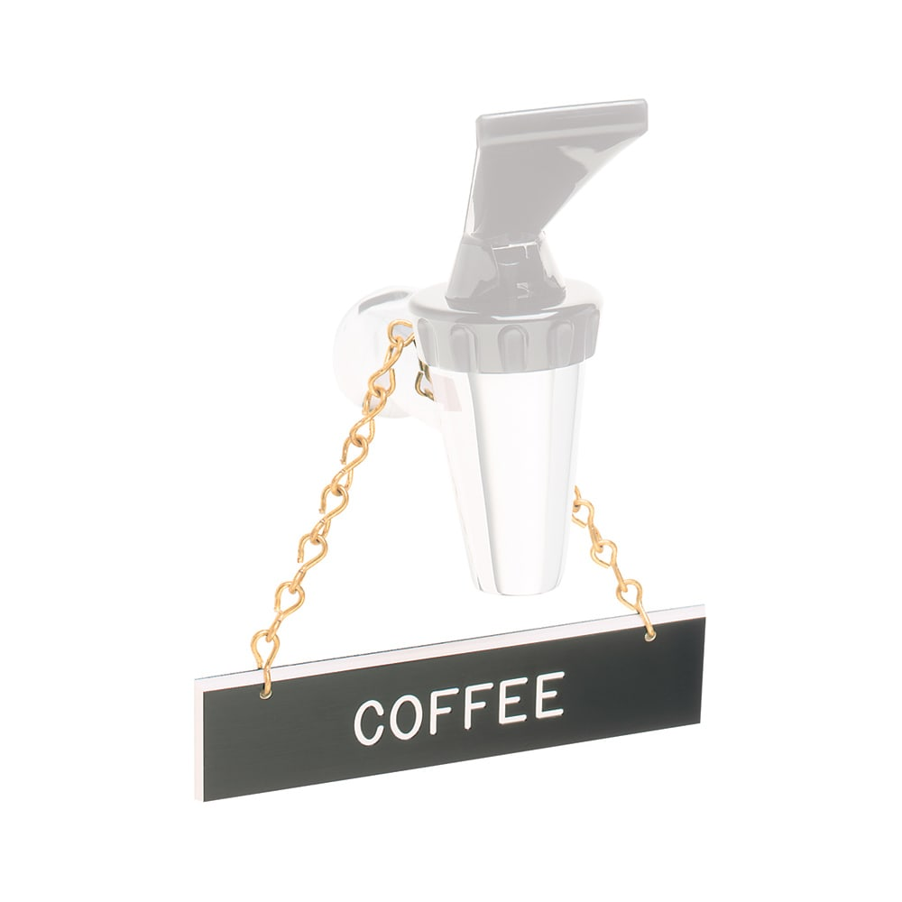 """Tomlinson 1912595 Hanging Sign w/ Solid Brass Chain - """"Coffee"""", 1"""" x 4"""""""